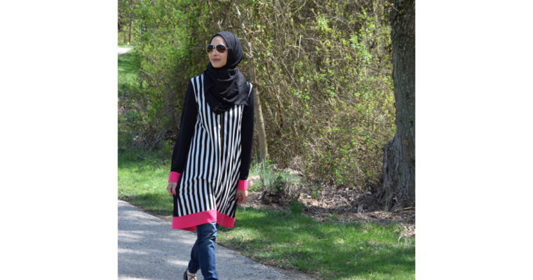 Spring look with Pink and Stripes