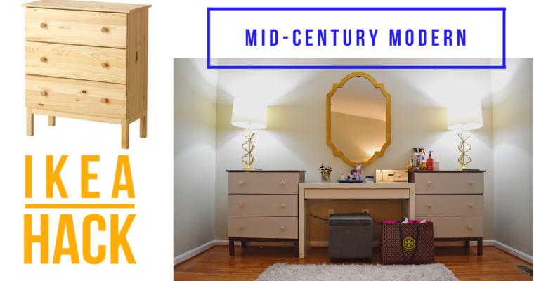 Mid-Century Modern Dresser | A West Elm Inspired IKEA Hack