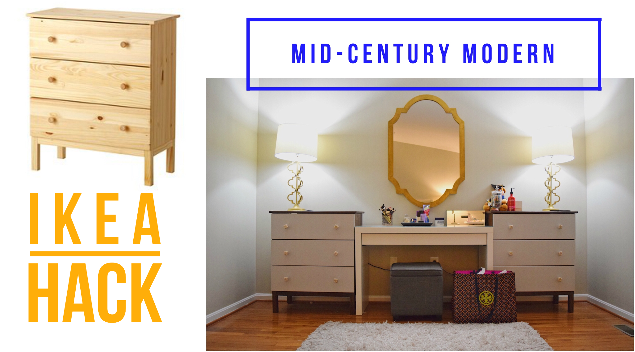 Mid Century Modern Dresser A West Elm Inspired Ikea Hack The Hady Life