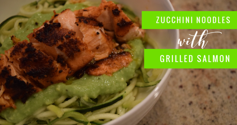 Zucchini Noodles with Grilled Salmon