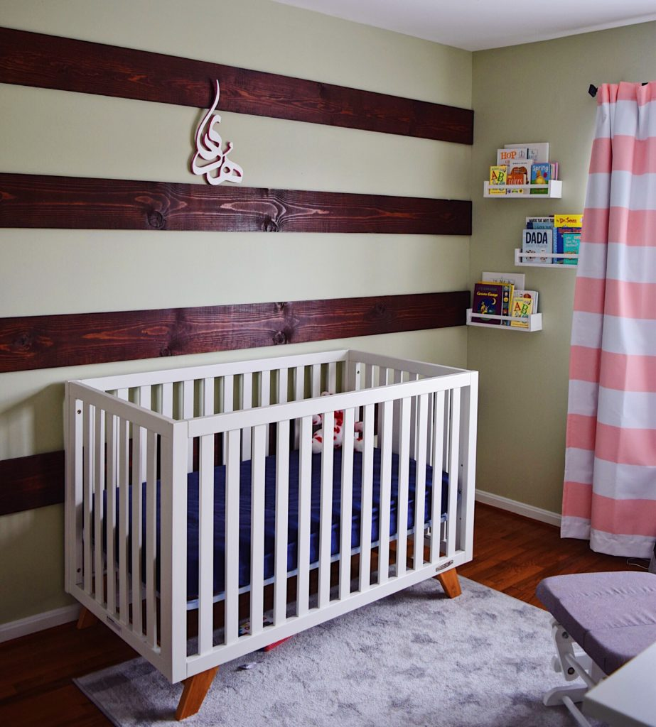 Diy Wood Plank Accent Wall: DIY Wood Striped Accent Wall