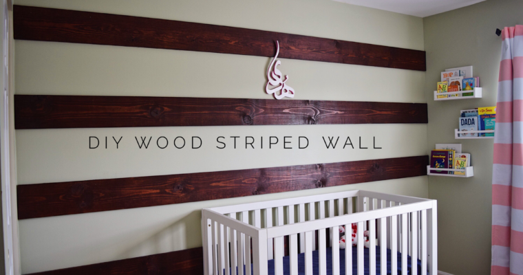 DIY Wood Striped Accent Wall