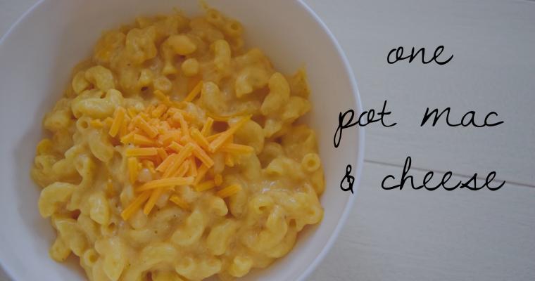One-Pot Mac & Cheese