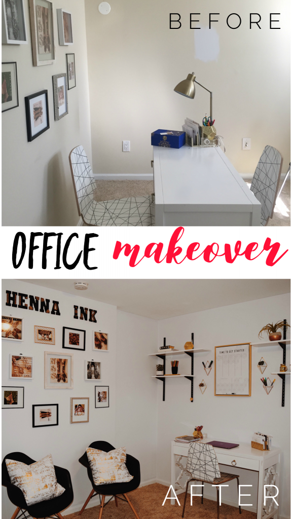 Before And After Home Office Gets Minimalist Makeover The Hady Life