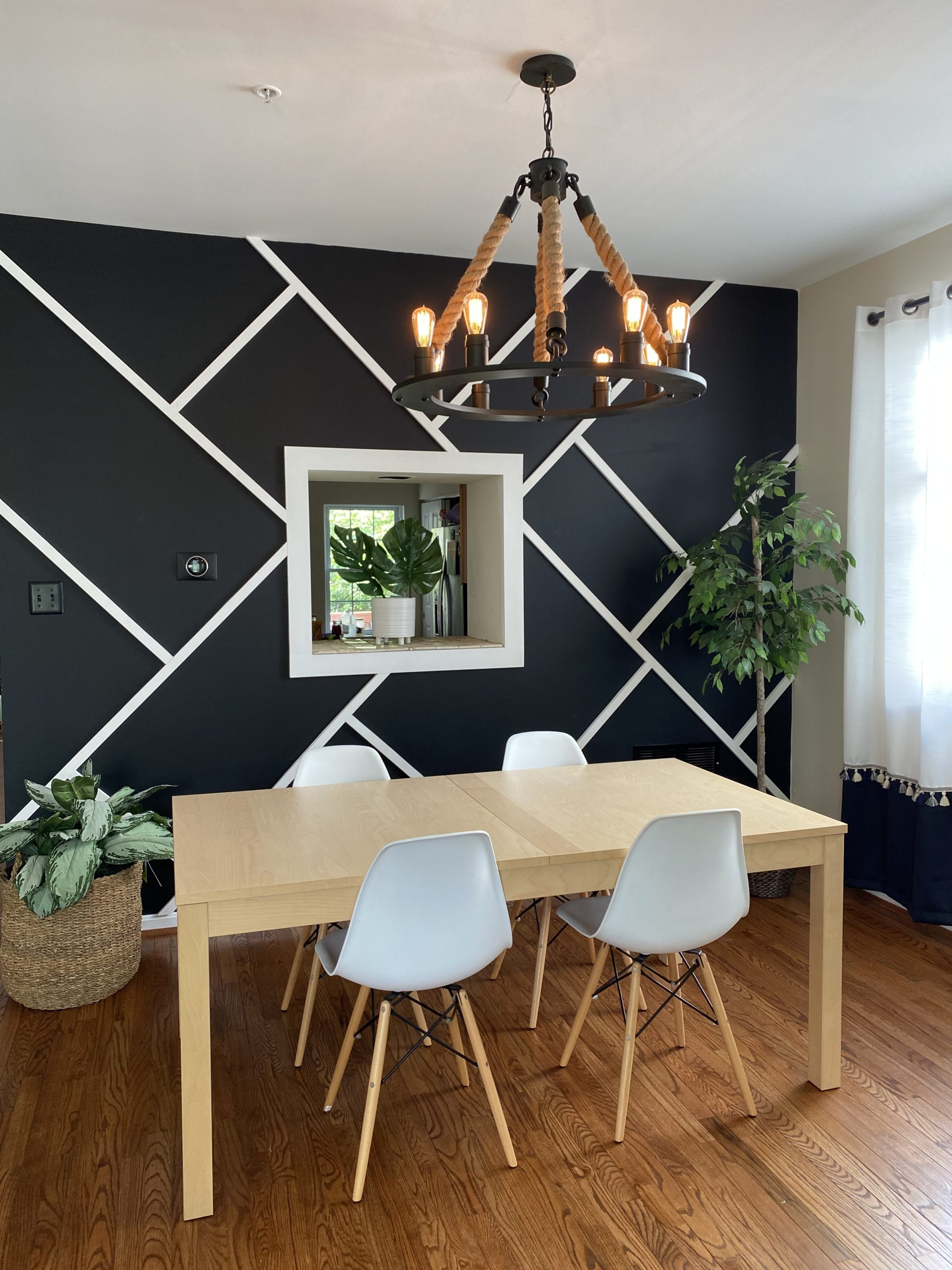 Dining Room Black Accent Wall Transformation The Hady Life